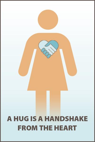 Heart hand shake