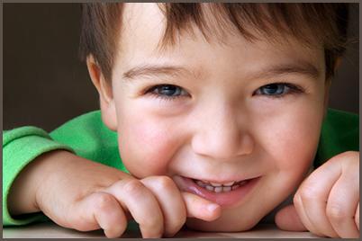 close up of happy preschooler